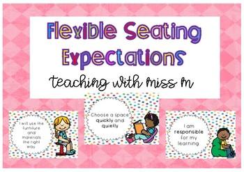 Flexible Seating Expectations (Polka Dots) #ausbts18