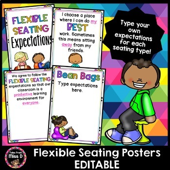 Flexible Seating Expectations Editable