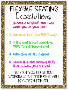 Flexible Seating Expectations FREEBIE!
