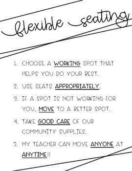 Flexible Seating Expectations Post