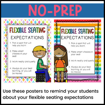 Flexible Seating Rules and Expectations Posters