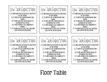 Flexible Seating Expectations - Target Dollar Spot Squares