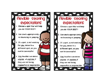 Flexible Seating Expectations Mini Posters