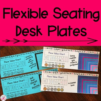 Flexible Seating Growth Mindset Desk Plates