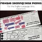 Flexible Seating Growth Mindset Desk Plates for English Language Arts
