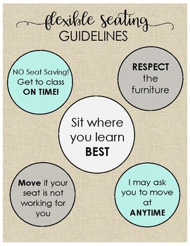 Flexible Seating Guidelines Poster