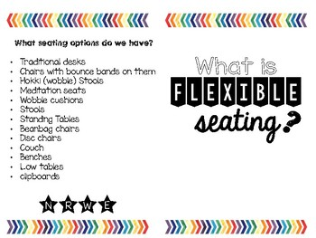 Flexible Seating Informational Brochure for Families