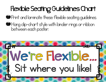 Flexible Seating Rules & Editable Parent Letter