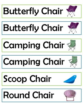 Flexible Seating Labels