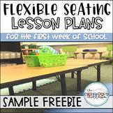 Flexible Seating Lesson Plan Sample FREEBIE
