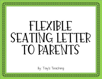 Flexible Seating Letter