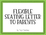 Flexible Seating Letter