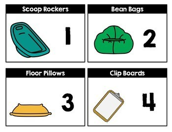 Flexible Seating Management Cards Editable