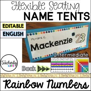 Flexible Seating Name Tents - Intermediate (English) *EDITABLE*