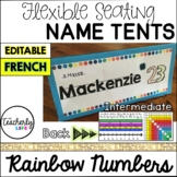 Flexible Seating Name Tents - Intermediate (French) *EDITABLE*