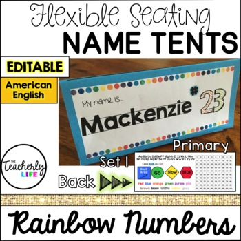 Flexible Seating Name Tents - Primary (American English) *EDITABLE*