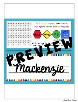 Flexible Seating Name Tents - Primary (Canadian/UK English) *EDITABLE*