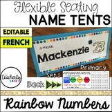 Flexible Seating Name Tents - Primary (French) *EDITABLE*