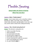 Flexible Seating Open House Flyer