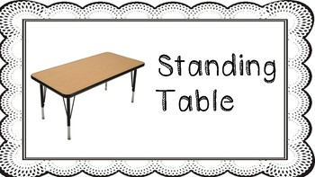 Flexible Seating Option Labels