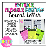 Flexible Seating Parent Letter in ENGLISH and SPANISH -- Editable