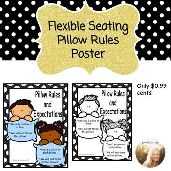 Flexible Seating Pillow Poster