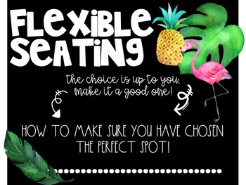 Tropical Flexible Seating Posters