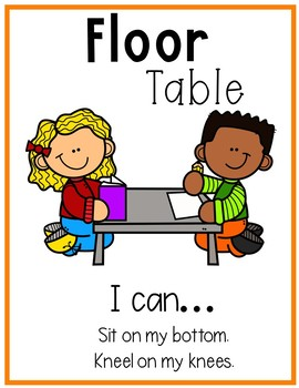 Flexible Seating Posters-Editable (Social story also included!)
