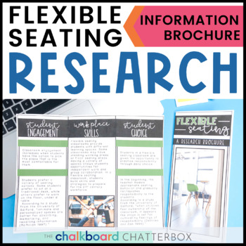 Flexible Seating Research Brochure | Editable