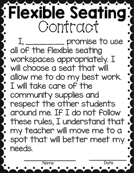 Flexible Seating Freebie!