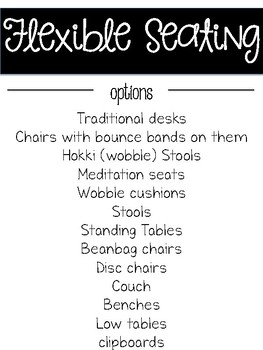 Flexible Seating Resources to Help Launch Flexible Seating in Your Classroom!