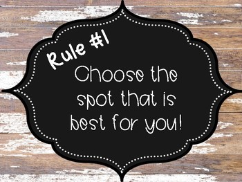 Flexible Seating Rules