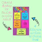 Flexible Seating Rules Display Signs
