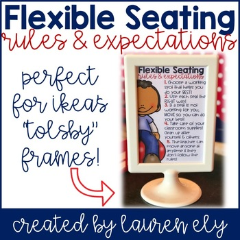 Flexible Seating Rules & Expectations for IKEA's Tolsby Frames!