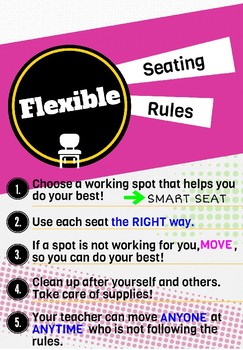 Flexible Seating Rules Poster
