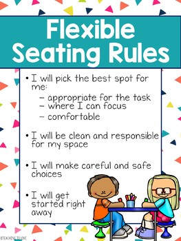 Flexible Seating Rules Poster - Editable