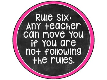 Flexible Seating Rules Posters - Chalkboard and Brights Theme
