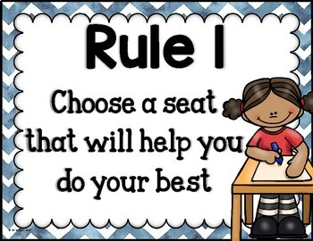 Flexible Seating Rules Set of Posters