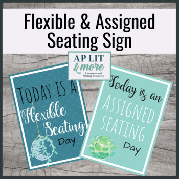Flexible Seating Sign
