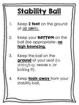 Flexible Seating Signs