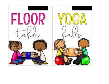flexible seating signs editable by simply creative teaching tpt rh teacherspayteachers com