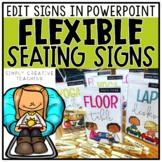 Flexible Seating Signs Editable