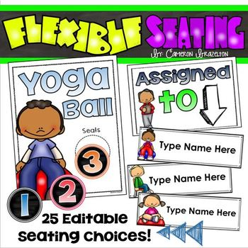 Flexible Seating Signs Posters Student Choice Editable