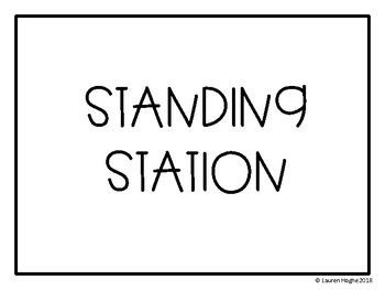 Flexible Seating Standing Stations Signs