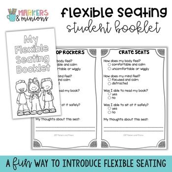 Flexible Seating Student Reflection Booklet/Passport (Editable!)