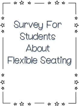 Flexible Seating Student Survey