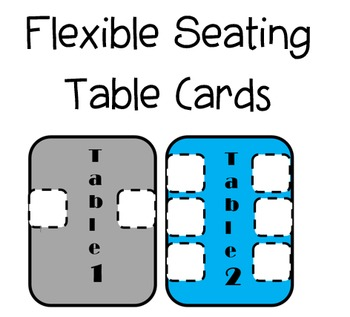 Flexible Seating Table Cards