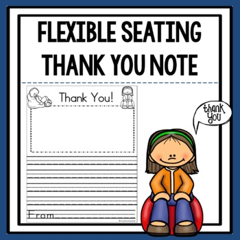Flexible Seating Thank You Note Template