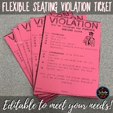 Flexible Seating Violation Ticket