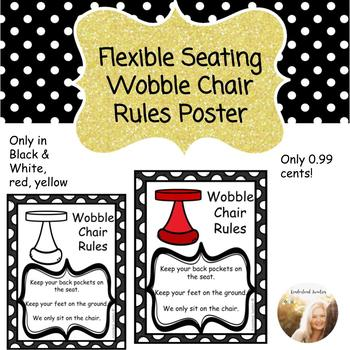 Flexible Seating Wobble Chair Poster